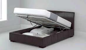 Ottoman Bed Black Black Faux Leather Ottoman Bed Frame Sensaform Memory