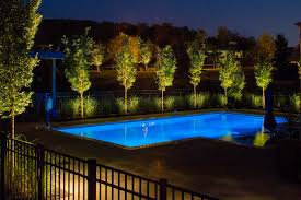 Pool Landscape Lighting Ideas Landscape Lighting Around Pool Designs