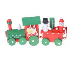 online shop funny 1pc wooden christmas train little train