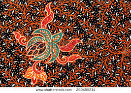 indonesian pattern beautiful art malaysian indonesian batik pattern stock photo