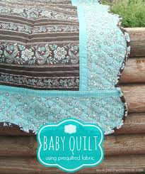 pre quilted fabric baby quilt