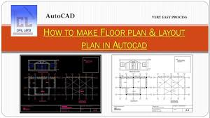 how to make floor plan u0026 layout plan of building in autocad youtube