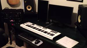 my recording studio new homemade desk youtube