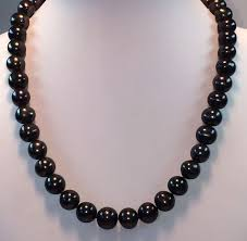 jewelry black pearl necklace images Black freshwater pearl necklace estate jewellery shop jpg