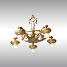 Art Deco Ceiling Fixtures Woka Lamps Vienna 4027 Art Deco Luster