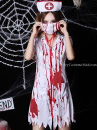 Bloody Nurse Halloween Costume Halloween Revelers Superheroes Killer Clowns Celebrate