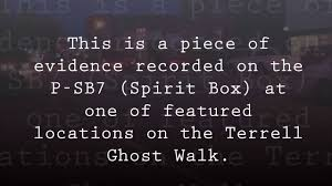 terrell ghost walk evidence youtube