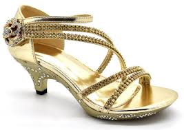 wedding shoes kl kids childrens high mid heel diamante party bridesmaid