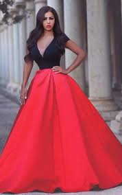 Red And Black Party Dresses Red And Black Prom Dresses Dorris Wedding