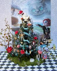 dollhouse miniature alice in wonderland themed tree i made alice