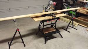 Bench Mounted Circular Saw How To Make A Miter Saw Bench With Your Workmate 425 47 Youtube