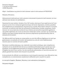 lettre de motivation chef de cuisine en restauration collective lettre de motivation mcdo
