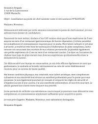 lettre de motivation pour cap cuisine lettre de motivation chef de cuisine en restauration collective