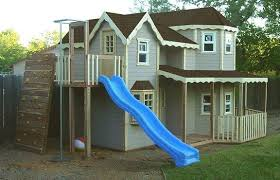 playhouse plans with swing and slide u2013 furnitureplans
