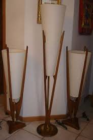 Sculpture Table Lamps Vintage Danish Modern Mid Century Eames Table Floor Lamp Teak