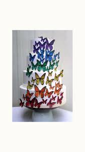 edible cake topper edible butterflies wedding cake topper rainbow edible butterflies