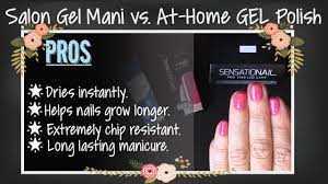 at home gel nail polish vs salon gel manicure youtube
