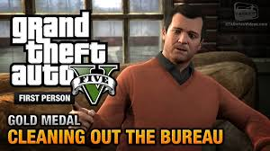 bureau gta 5 gta 5 mission 61 cleaning out the bureau person gold
