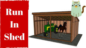 Loafing Shed Plans Horse Shelter by Run In Shed Plans Youtube