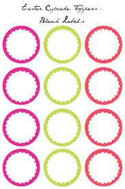 cupcake toppers easter cupcake toppers free printables blank labels easter