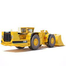 3d model underground mining loader r1600g cgtrader