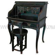 Chinese Secretary Desk by Chinese Roll Top Secretaire Desk With Cabriole Legs And Butterfly