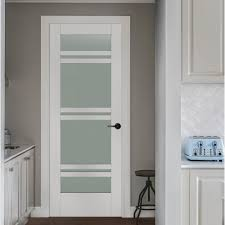 wood interior doors home depot jeld wen 36 in x 80 in moda primed white 7 lite solid core wood