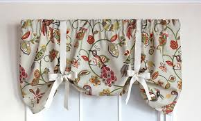 Tie Up Valance Curtains That Bird Tie Up Valance Rlf Home