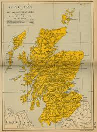 Map Of Kent England by Of Scotland 16th Century
