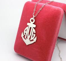 Monogrammed Sterling Silver Necklace 48 Best Mongram Necklace Images On Pinterest Monogram Jewelry
