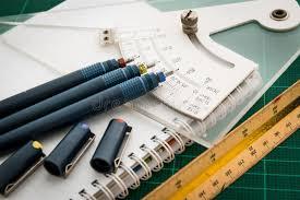 le stuoie le stuoie di taglio disegni a penna regolano lo strumento di