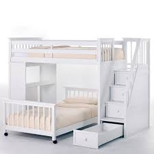 How To Build A Loft Bunk Bed With Stairs by Ne Kids Schoolhouse Stairway Loft Bed White Hayneedle