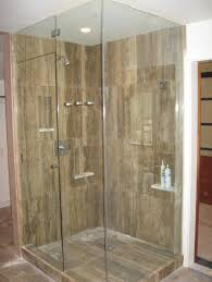 Corner Shower Glass Doors Bathroom Hinged Frameless Glass Shower Door Corner Near Bathtub