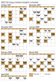 vegas golden knights schedule includes early 7 game homestand