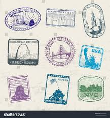 New York how long does it take for mail to travel images Mail travel stamps usa city symbols stock vector 469506356 jpg