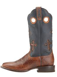 men u0027s ariat ranchero adobe clay black cowboy boots 10015285