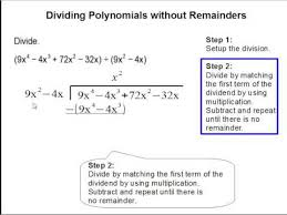 dividing polynomials without remainders youtube