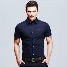 vetement de bureau nouveau été chemise homme solide couleur manche courte tournez à