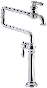 kohler 99271 cp artifacts single hole deck mount pot filler