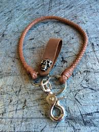 braided leather chain bracelet images 18 quot braided leather chain key fob keychain key chain aftcra jpg