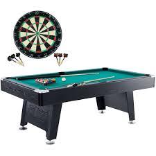 barrington 84 inch arcade billiard table with bonus dartboard set