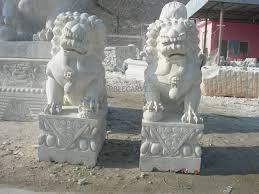 fu dog statues fudog statue marble sculpture foo dog temple lyon garden carvings