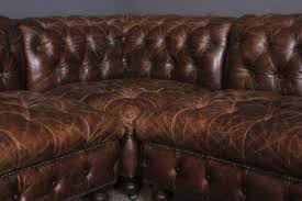 distressed leather chesterfield sofa kendalls conwy vintage industrial retro furniture halo living