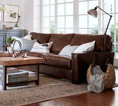 Leather Sofa Packages Turner Square Arm Leather Sofa Pottery Barn