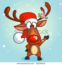 rudolph the nosed reindeer characters nose reindeer rudolph stock vector 352266440