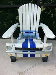 Skull Adirondack Chair Mustang Chair Built By Www Philcurren Com Chairs Pinterest
