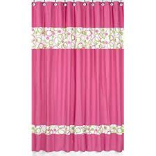 Pink And Orange Shower Curtain Amazon Com Linen Organza Embroidery Pink Fabric Shower