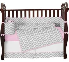 Gray And Pink Crib Bedding Pink Gray Chevron Baby Bedding Crib Set Sweet Jojo Designs
