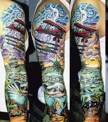 from land to sea tattoo
