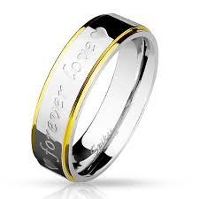 karikagyuru rak 6 mm forever feliratos nemesacél karikagyűrű